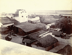 Panoramic view of the town from the top of the Jami Masjid, Khambhat (Cambay). Section 5, looking south-east